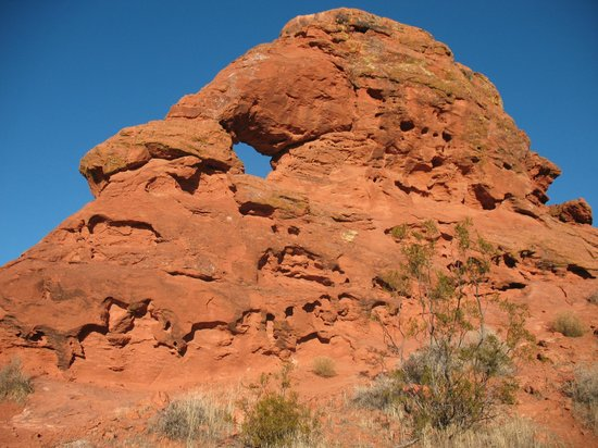 Red Mountain Resort: Rock formation from hike