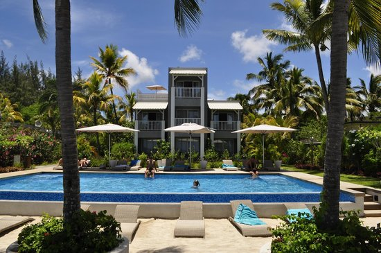 Mon Choisy Beach R.: l'hotel vu de la plage