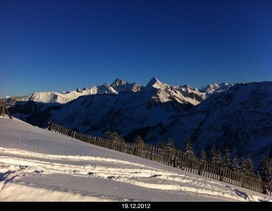 Hotel Damuelser Hof : Skifahren oberhalb Damüls