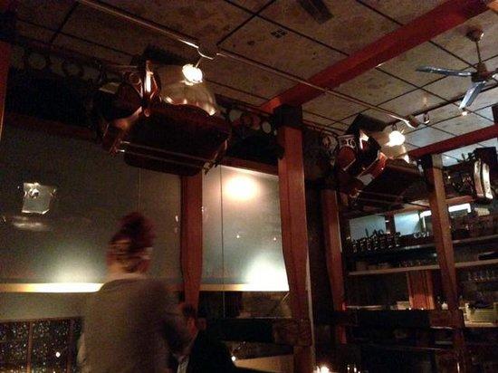 "Ruxbin Kitchen: Ruxbin interior w lighting made from ""theatre seat"""