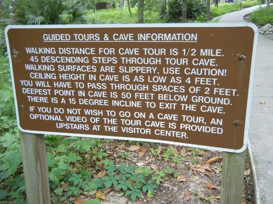 Florida Caverns State Park: information