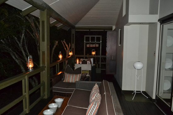andBeyond Phinda Forest Lodge: Our patio at night