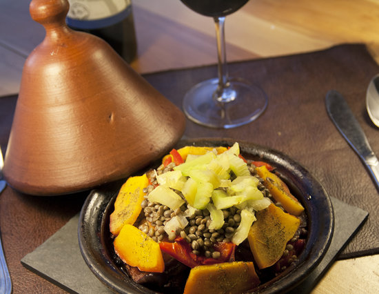 Aldea restaurant: Tajine de Verduras con Lentejas