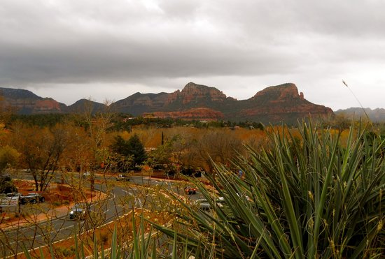 Sedona Motel: The view from the front door of our room...
