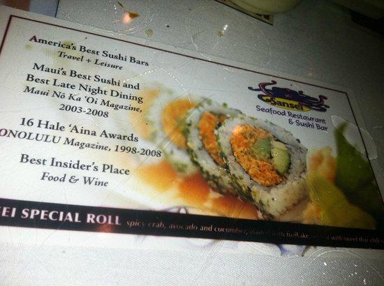 Sansei Advertisement Picture Of Sansei Seafood Restaurant