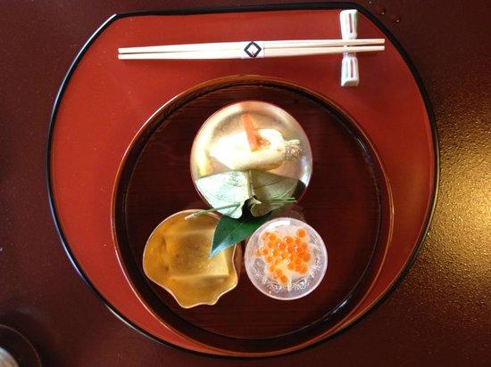 Tokyo Shiba Tofuya Ukai: Mise en bouche
