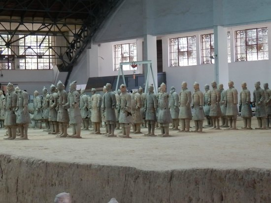 The Museum of Qin Terra-cotta Warriors and Horses: These statues were all pieced together from fragments