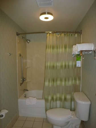 SpringHill Suites Boston Andover: Tub and toilet