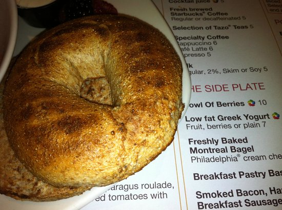 Sheraton Centre Toronto Hotel: Montreal bagel that isn't
