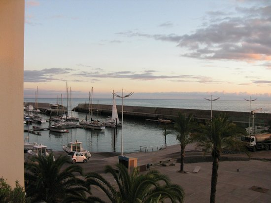 Savoy Calheta Beach: View from our bedroom window of marina
