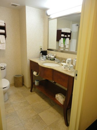 Hampton Inn Warrenton: Great bathroom