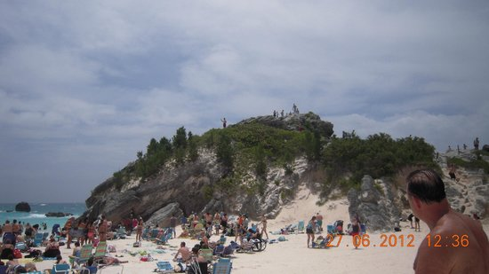 Horseshoe Bay Beach: The hillock by the bay