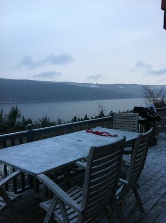 Lodges on Loch Ness: view from the lodge