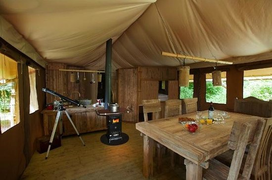Country House Hideout at Wyresdale Park: Country House Hideout tent interior