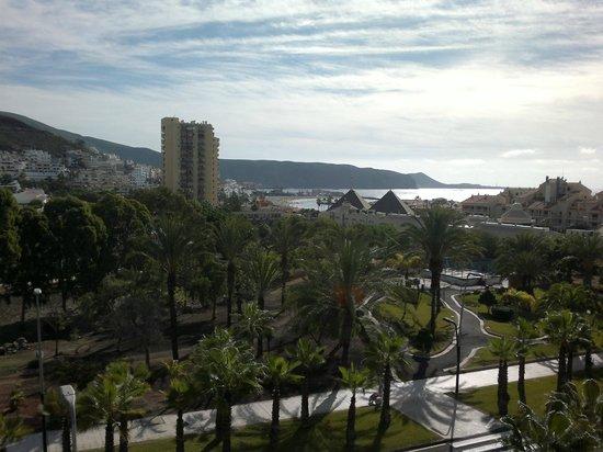 Aparthotel Parque de la Paz: dette var noget af udsigten fra vores værelse