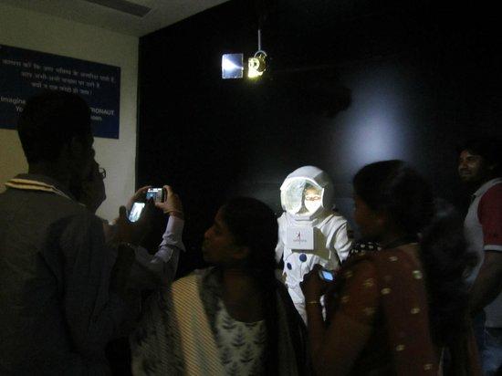 Nehru Planetarium: get your picture taken as an astronaut
