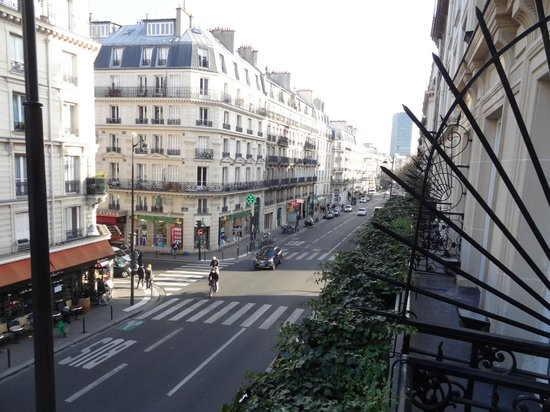 Hotel Atmospheres: View from the balcony...Rue des Écoles