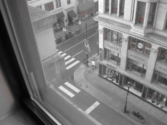 Latham Hotel: View from West side of 6th Floor onto intersection