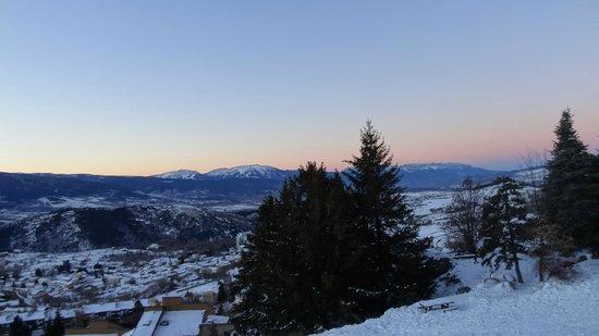 Pierre & Vacances Residence Le Pedrou: coucher de soleil depuis le salon