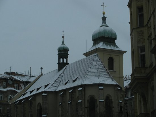 Design Hotel Josef Prague: one of the church domes seen from our room