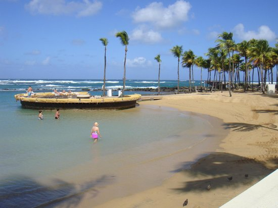 Caribe Hilton San Juan: I loved lying on the beds here on the beach!