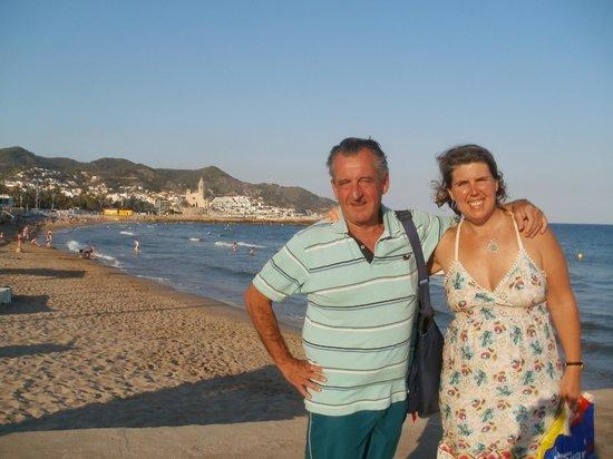Playa de Sitges: Con el Vasco en las playas de Sitges