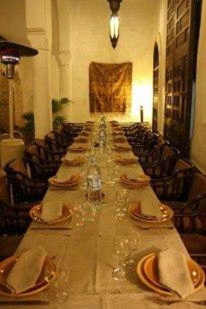 Riad Dar Saad: Salle à Manger de Nuit 2