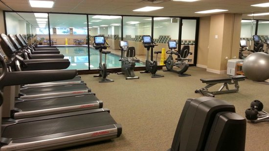 Hyatt Regency Schaumburg, Chicago: Fitness center with lap pool in background