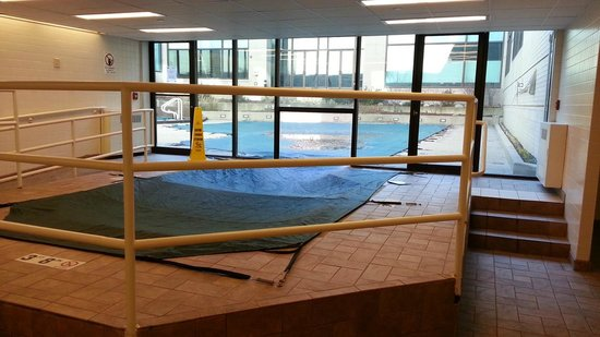Hyatt Regency Schaumburg, Chicago: Indoor/outdoor pool (Winter so it's covered)