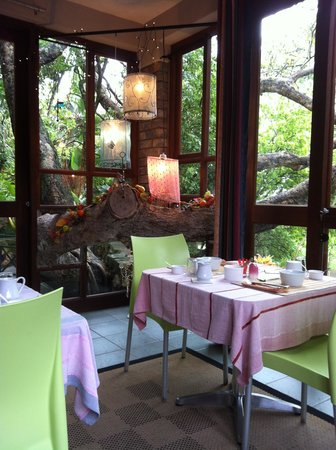 Mariu Guest House: Breakfast served on enclosed patio