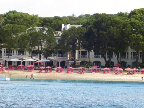 Sandy Lane Hotel: View from Catamaran