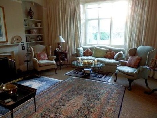Living room at The Old Vicarage
