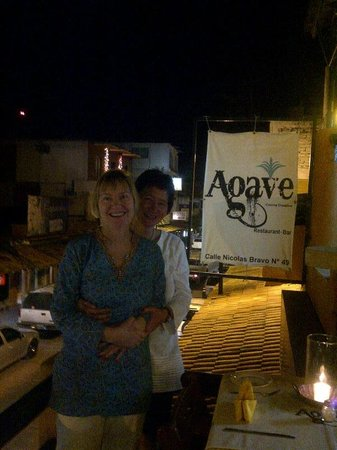 El Agave: My friend and I basking in the afterglow of a perfect dinner.