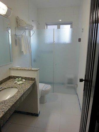 Aguas do Iguacu Hotel Centro: Banheiro funcional e limpo