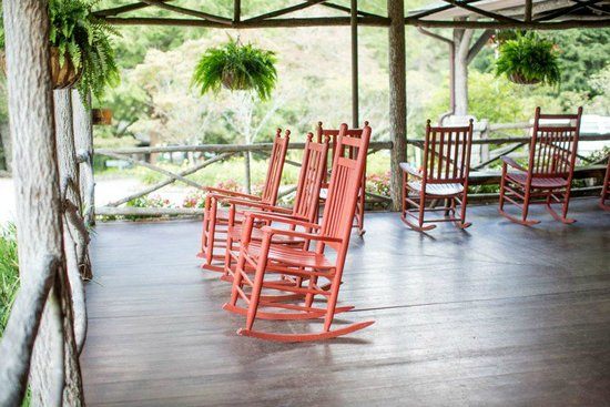 Rocking chairs on the Inn's front and side porches