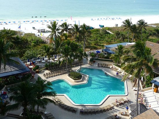 Hilton Marco Island Beach Resort--CLOSED FOR RENOVATIONS; REOPENING DEC. 1, 2017: view from room