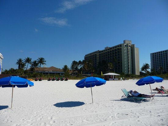 Hilton Marco Island Beach Resort: hotel from the beach