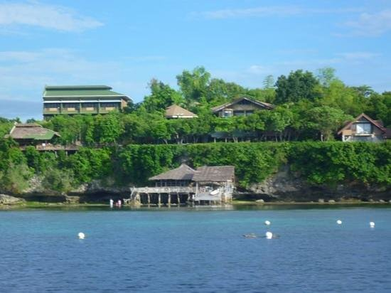 Bohol Bee Farm: view of the bee farm from the dive boat