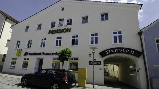 Pension Schreiber: Ansicht vom Stadtplatz
