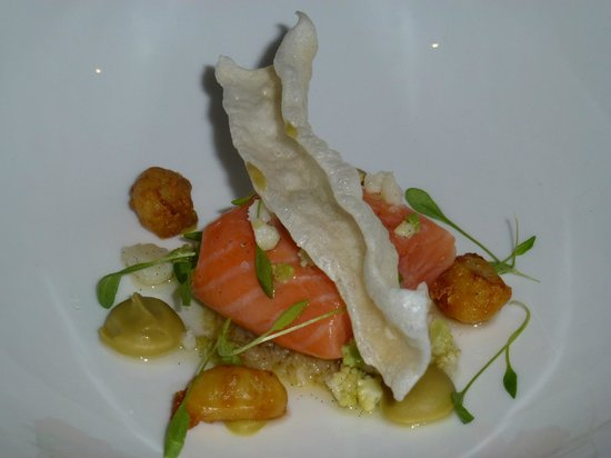 Lumiere: Salmon with Cauliflower and Squid