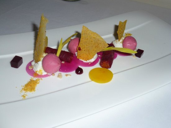 Lumiere: Textures of Beetroot with goats curd