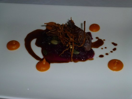 Lumiere: Loin of Hare, braised cabbage and Pumkin