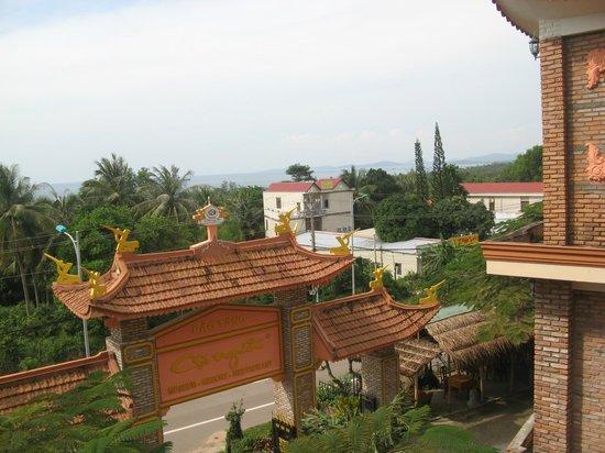 Coi Nguon Phu Quoc Hotel : Uitzicht vanuit museum