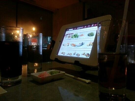 Spring Sushi: high tech ordering system