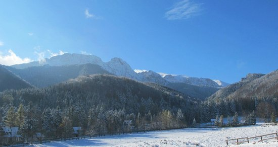 Tatra Chalet : View on the Strazyska valley and Giewont