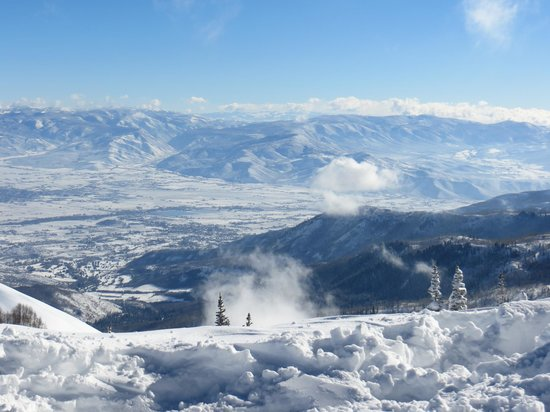 Brighton Ski Resort: View from the top of Snake Creek