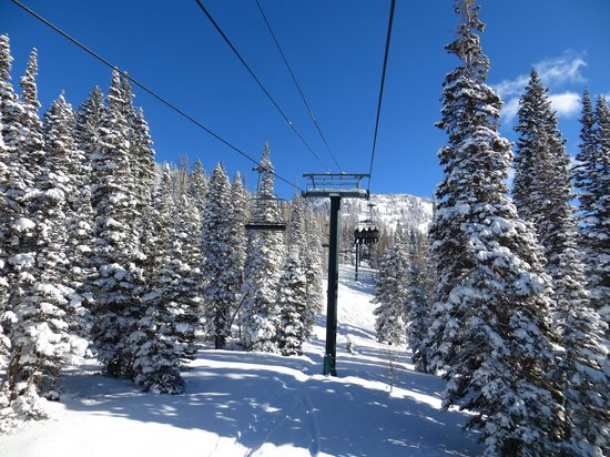 Brighton Ski Resort: Snake Creek chair lift