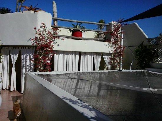 Dar Ait Sbaa: Térasse: Plan supérieur et couverture transparente du patio