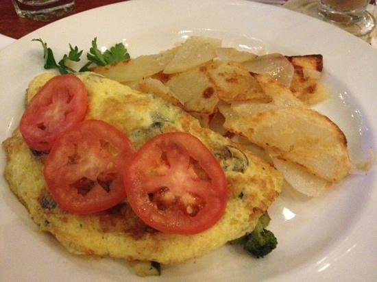 New York - New York Hotel and Casino: mushroom omelette from Il Fornaio