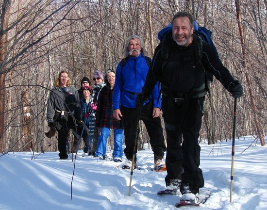 Great River Outfitters And The Path of Life Garden: Snowshoeing